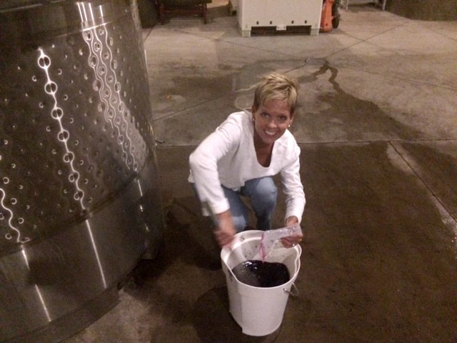 Laurie testing wine